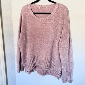 Dusty Rose Chenille Sweater